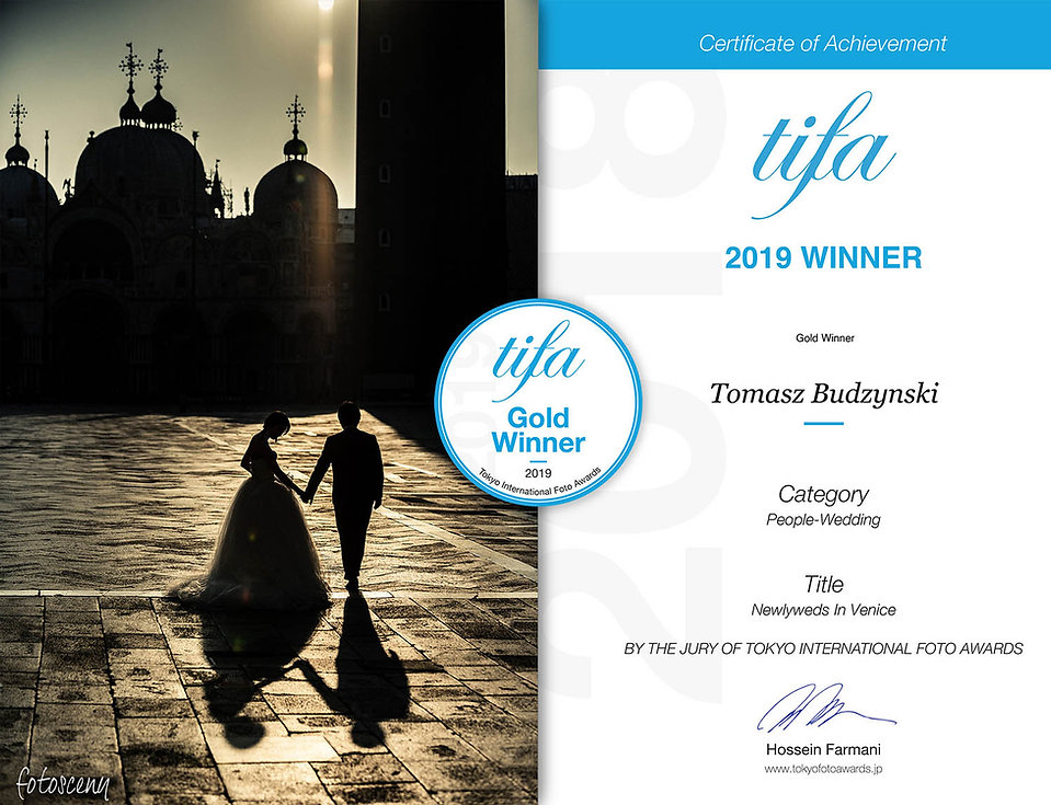 Badge - Fotosceny Tomasz Budzyński TIFA Gold Winner Tokyo International Foto Awards