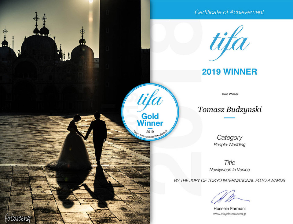 Fotosceny Tomasz Budzyński TIFA 2019 Gold Winner Category People-Wedding Tokyo International Foto Awards
