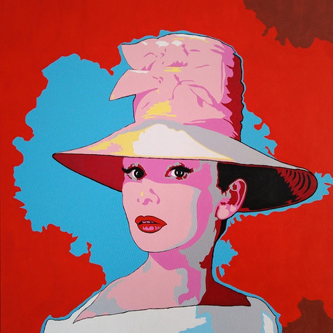 Audrey Hepburn w kapeluszu