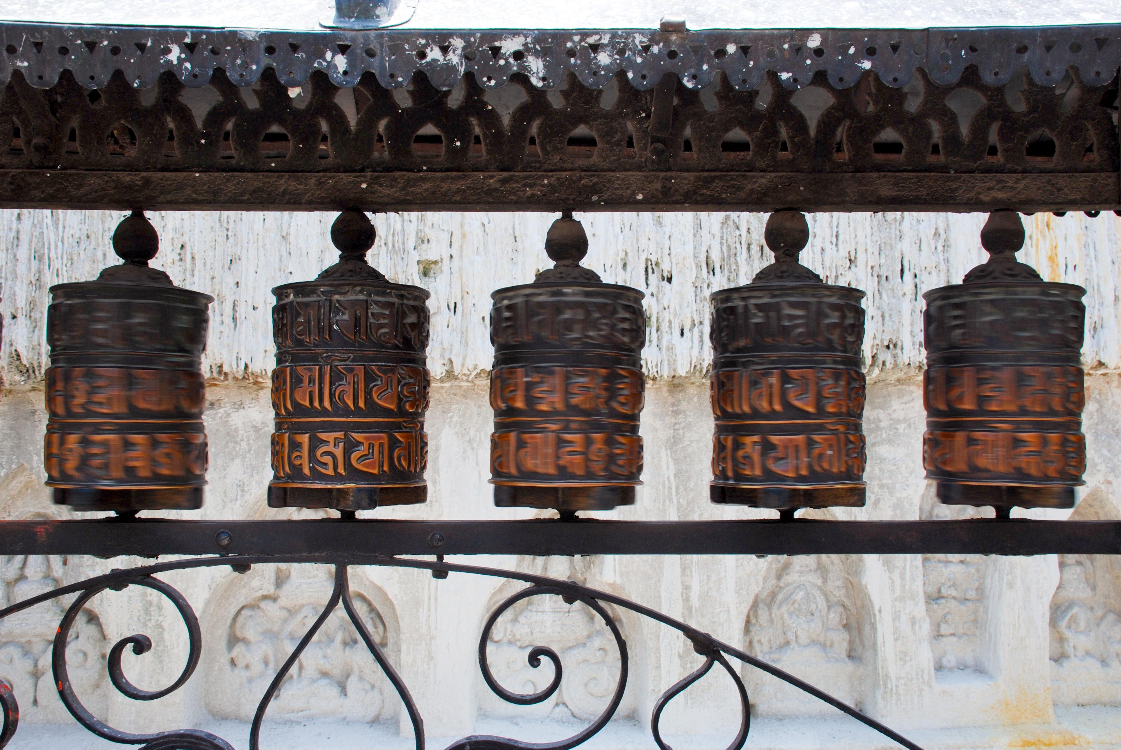 Swayambhunath_prayer_wheels
