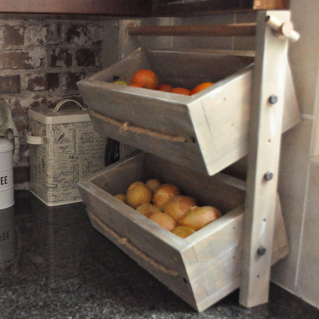 Rustic Vegetable Racks