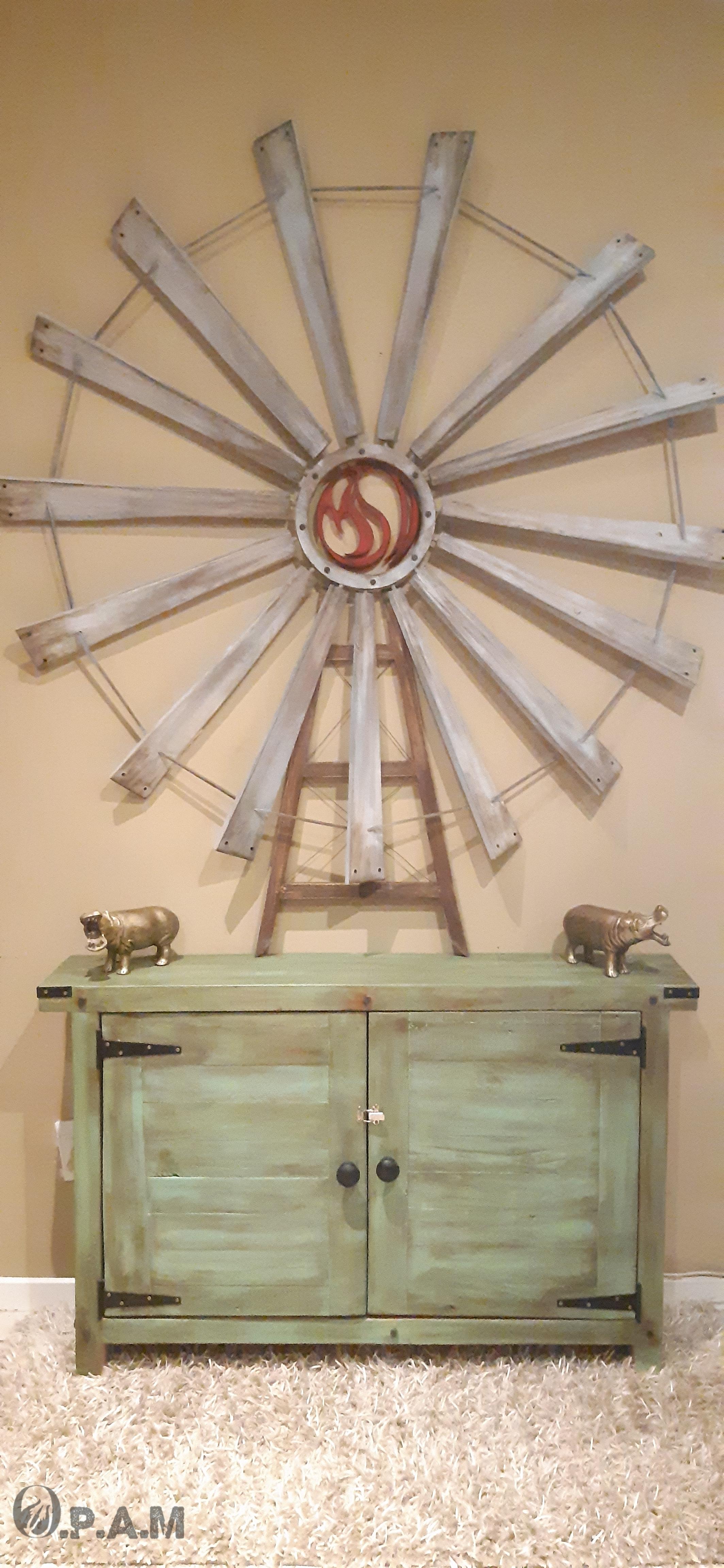 Farmhouse Windmill Wall Decor