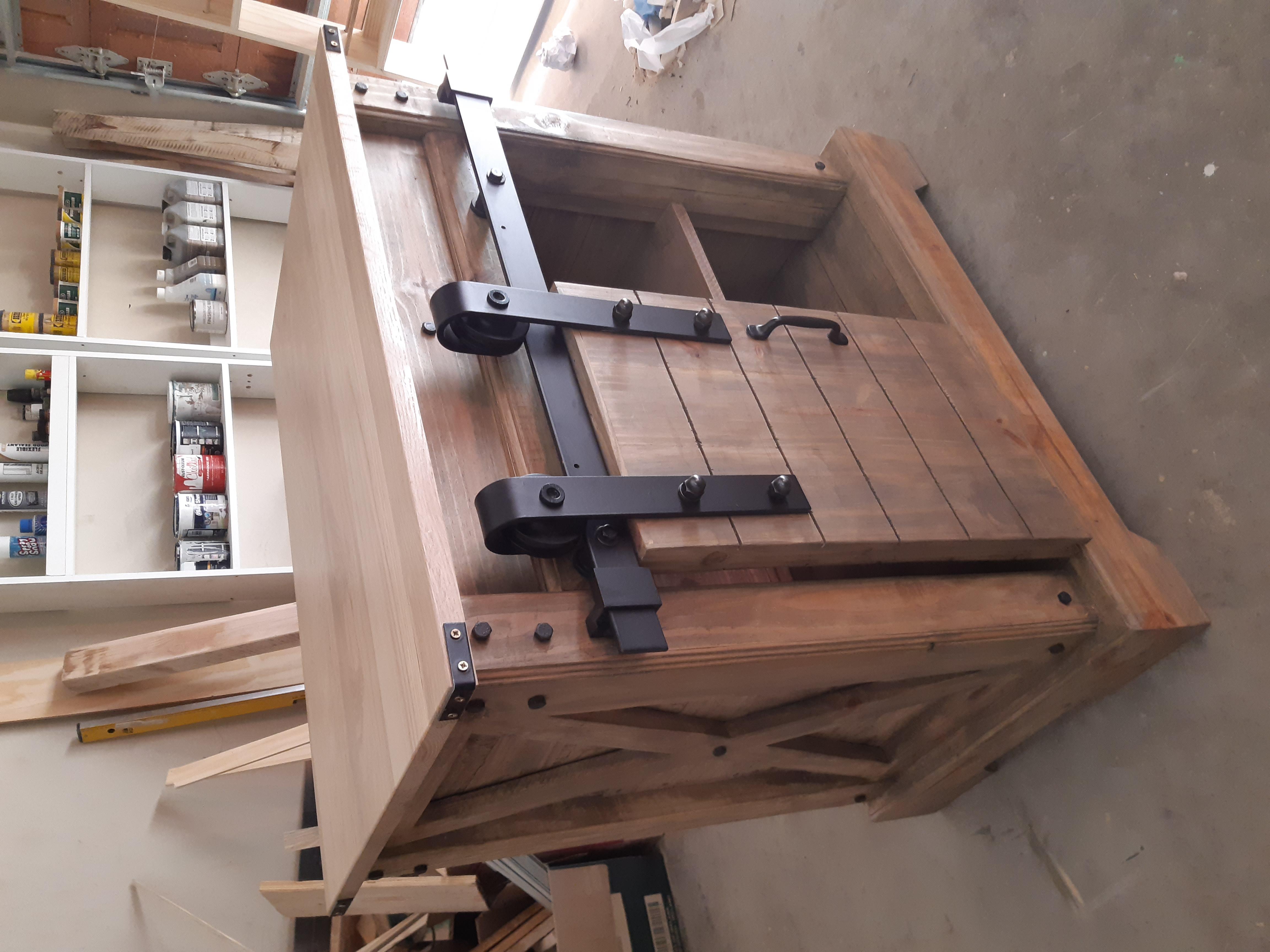 Sliding Barn Door Console