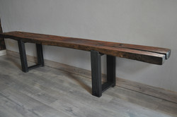 Rustic Live Edge Bench Table