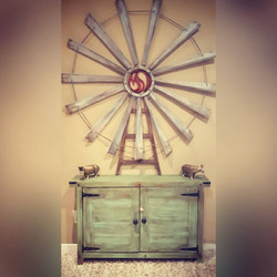 Rustic Green Console