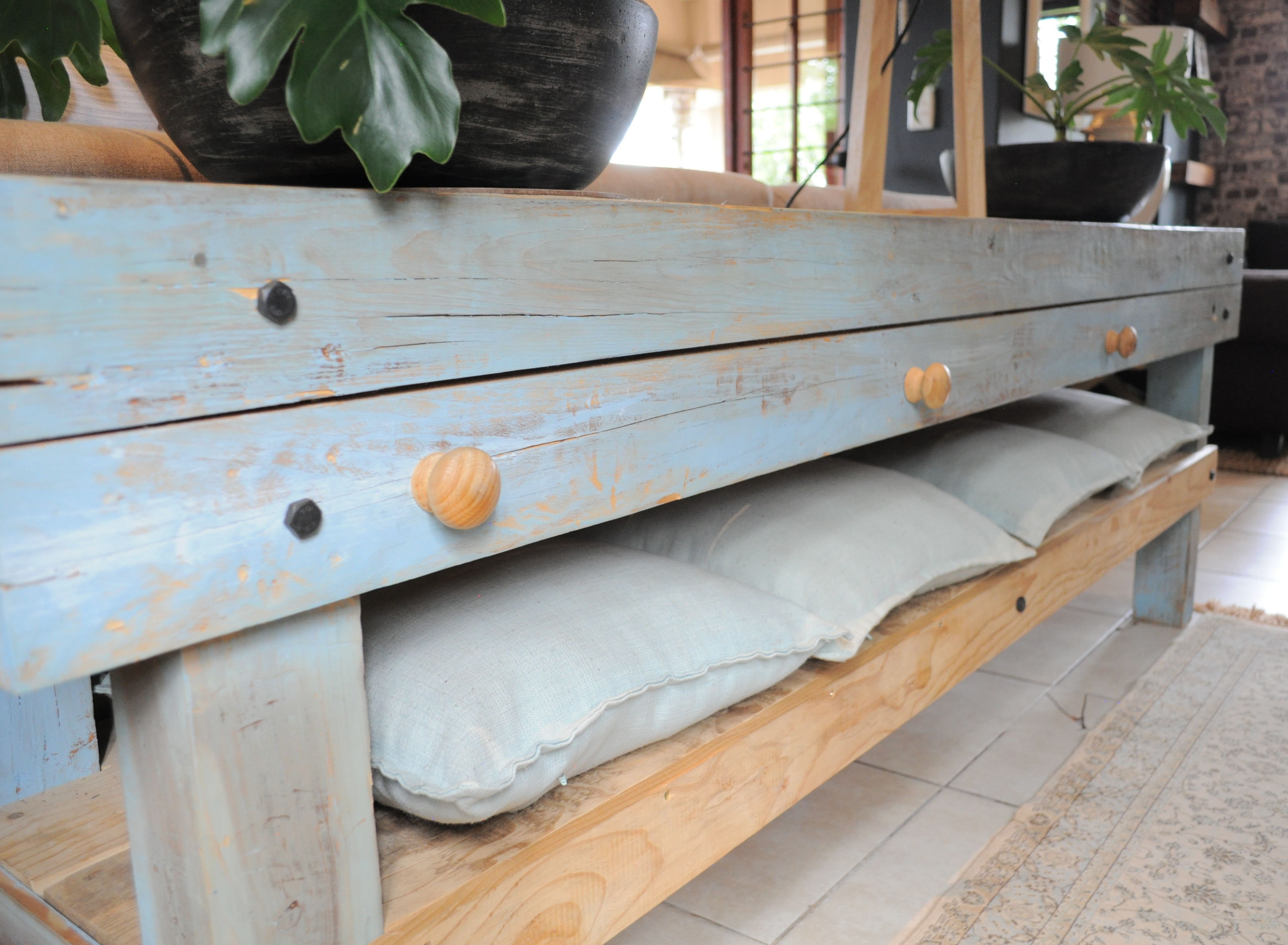 Blue Wash Console Table