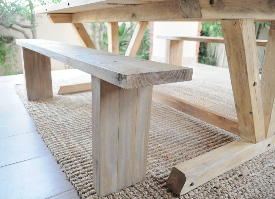 Outdoor Farmhouse Table & Benches