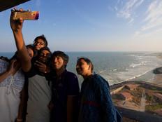 Selfie with the breakwater.jpg