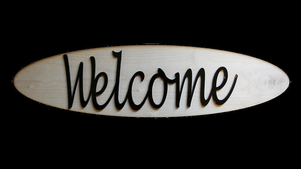Välkommen Skylt
