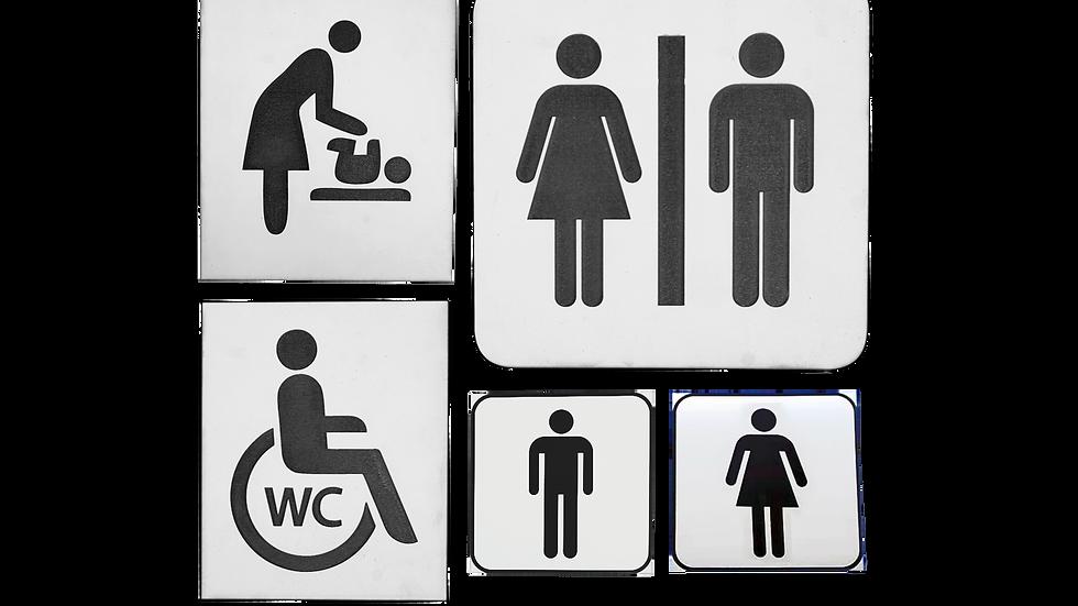 Toalett skyltar