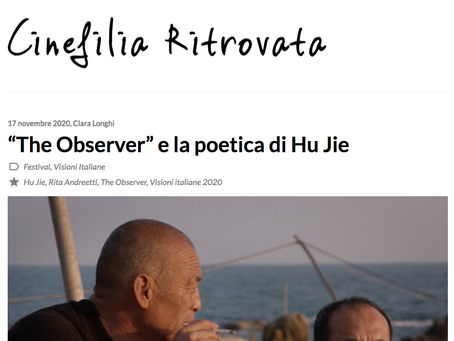 Il documentario di Rita Andreetti su Hu Jie