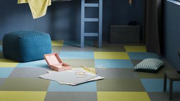 Skap ditt gulv med farger og mønster