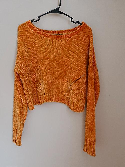 Mustard Cropped Sweater/ Medium