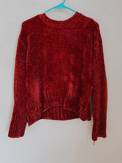Red Cropped Sweater/ Medium