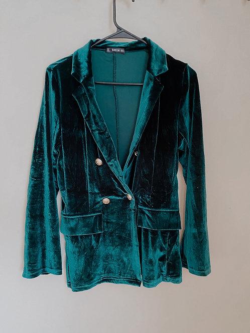 Green Velvet Blazer/ Small