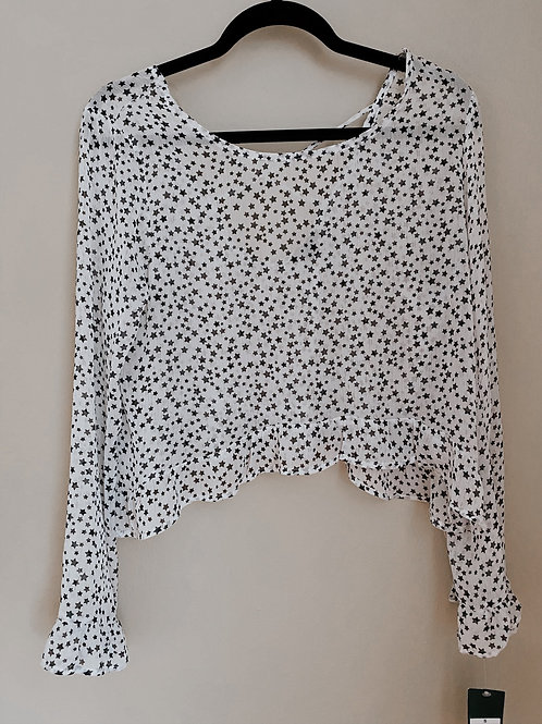 Star Cropped Blouse/ Small
