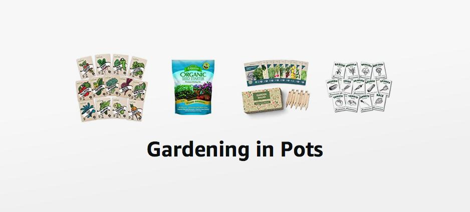 Gardening in pots storefront www.lifeloveandlettuce.com