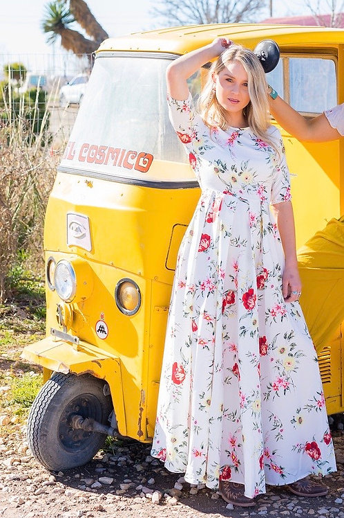 Spring Flowers Dress/ Small