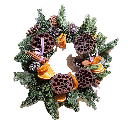 Lilac Bows & Pine