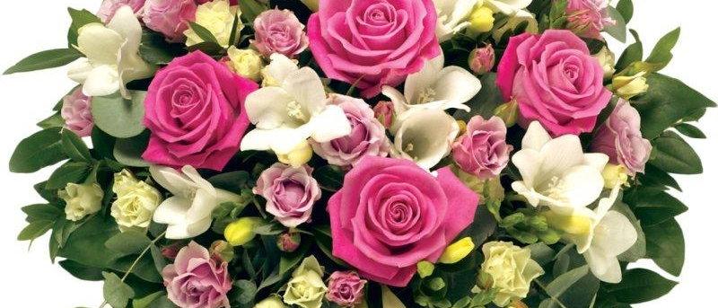 Pink & White Rose Posy