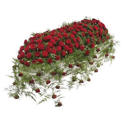 Luxury Red Rose Casket Spray
