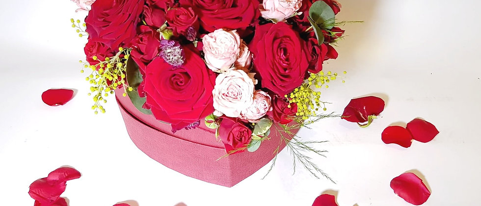 Heart Box - Red & Pink