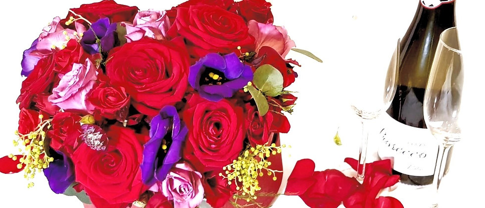 Heart Box - Red & Purple