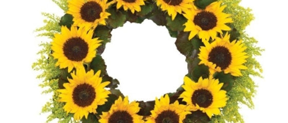 Sunflower Wreath