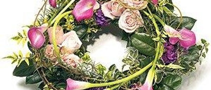 Pink Calla Lily Wreath