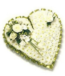 Traditional White Heart - different colour options available