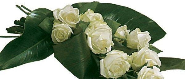 White Rose Tied Sheaf