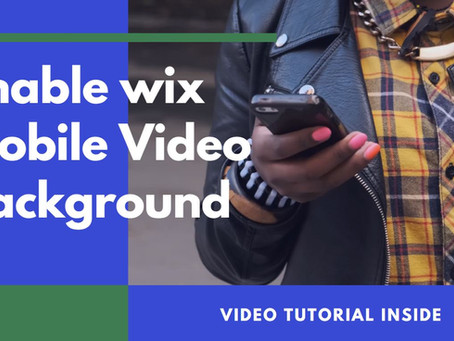 Get Wix Video Background To Play On Mobile