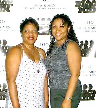 Smiling moment with Helen Ballard of Making the Grade A+ and Raipey, Inc. at an event for The 100 Black Men of America in August 2016.