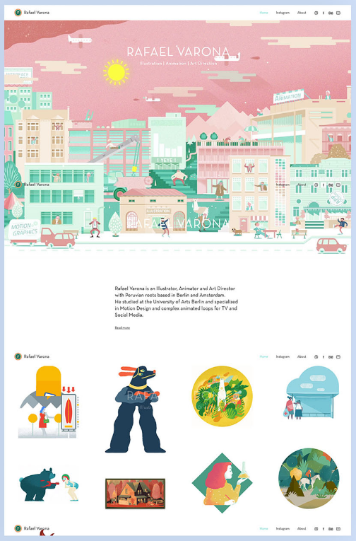 Wix Animation Artist Website Design