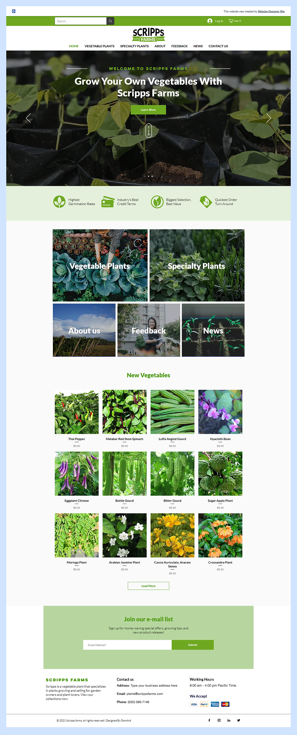 Farm Website Design
