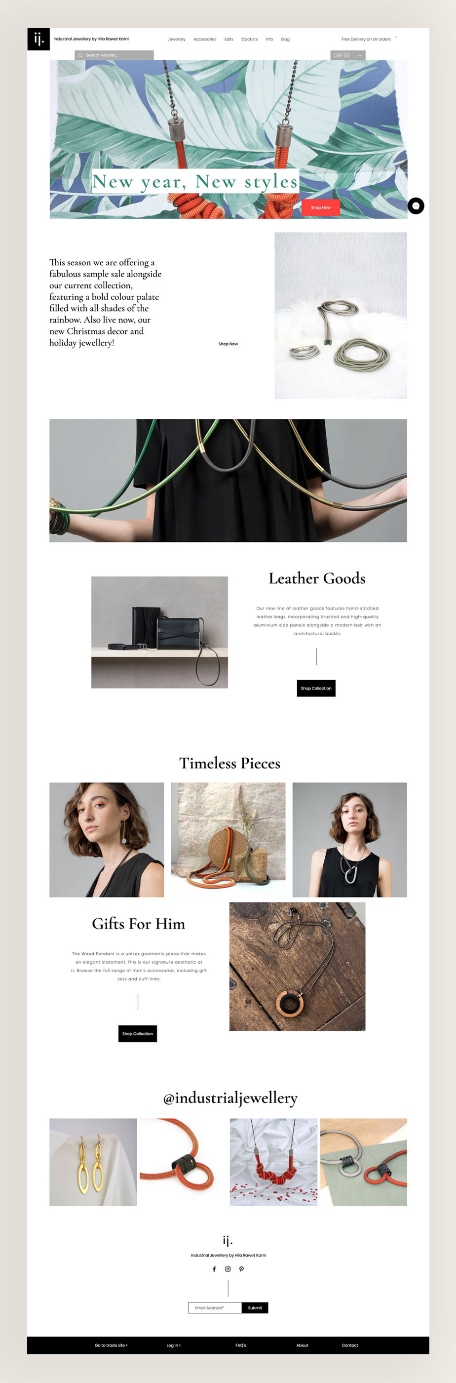 Wax Ecommerce Website Design