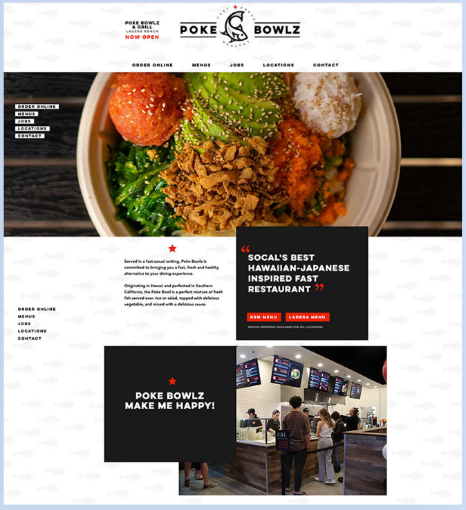 Wix Food Web Design