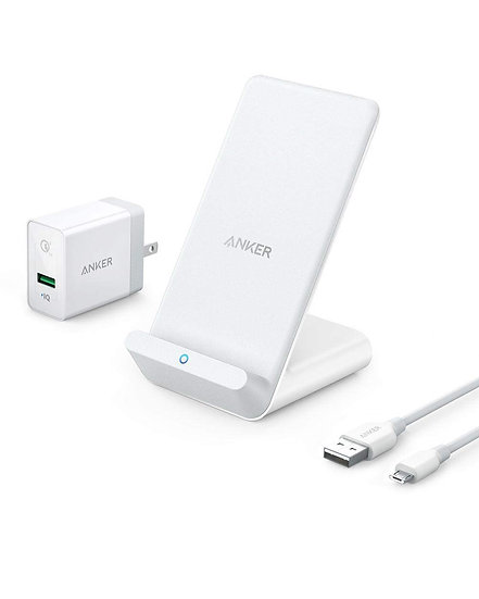Anker wireless charger Stand for A UN White & PowerPort+ 1 with Quick Charge 3.0