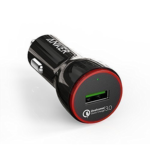 PowerDrive+1 24W car charger with 1-Port QC 3.0 +Anker 3ft micro USB Cable black