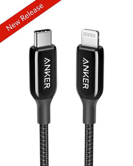 Anker PowerLine+ III USB-C Cable with Lightning Connector 3ft Black