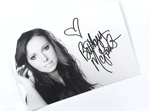 Autographed Photo Card - Black & White