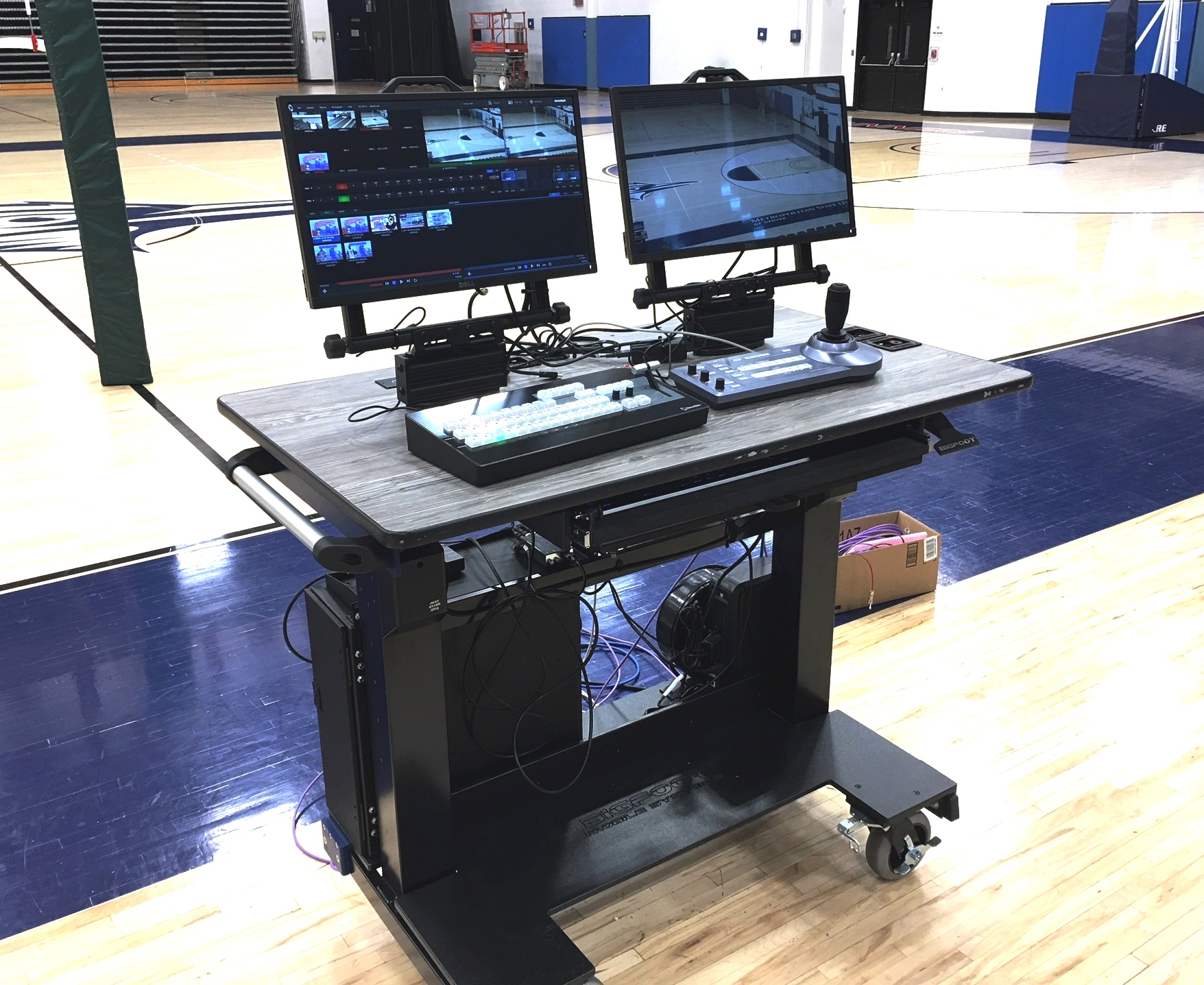 Sit-Stand Desk Auraria Tech Sports production