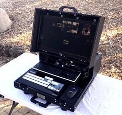 Bigfoot Tricaster Mini Briefcase angle adjustable monitor lid