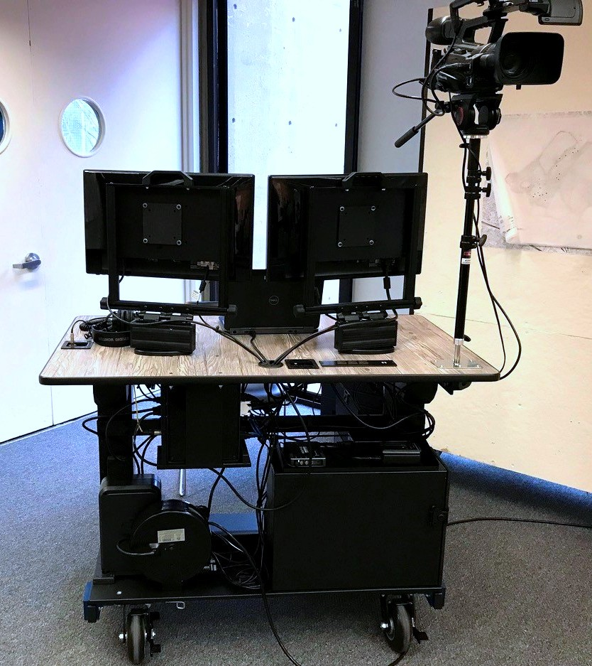 HARVARD SCHOOL OF DESIGN- Bigfoot Mobile Systems video production ROLLING DESK rear