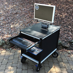 SingleRack Cart, solid top,swing up-swivel mount