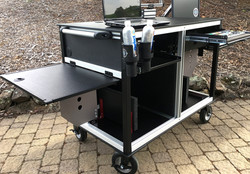 Bigfoot cart system with Dual Flipup Sides -grey