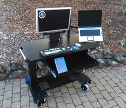 Microsoft Sit-Stand desk front