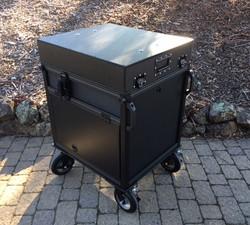 Bigfoot Single Rack Cart lid and side flip ups closed 2