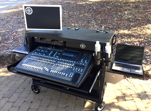 Dual Rack Large Audio Console