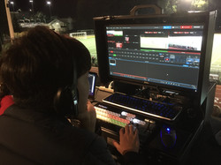 Bigfoot Mini Briefcase with standard 24inch monitor at Harvard Westlake in use sml